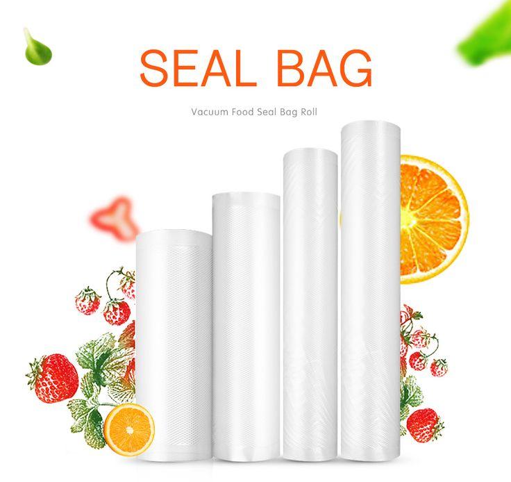 KCASA KC-VB03 28x500cm Vaccum Sealing Bag Roll Food Sealer machine Bag Kitchen Storage Fresh-keeping Bag  General Food Saver Bag