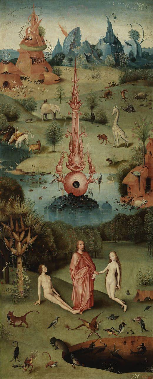 La Creación (tríptico). Siglos XV - XVI. Hieronymus Bosch, El Bosco. Museo del Prado. Galería on line.