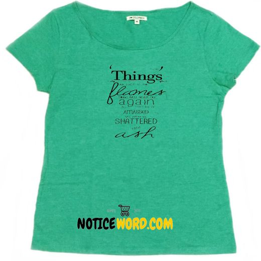 BASTILLE | Things We Lost in the Fire Lyrics T Shirt
