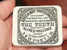 ALFRED MILLIDGE NEWPORT ISLE OF WIGHT ARECA NUT TOOTH PASTE POT LID HAMPSHIRE