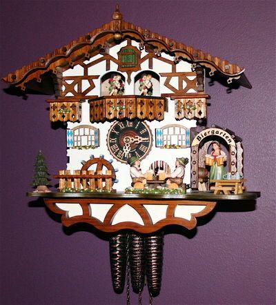 "Fancy German cuckoo clocks that play ""Edelweiss."" I want one."