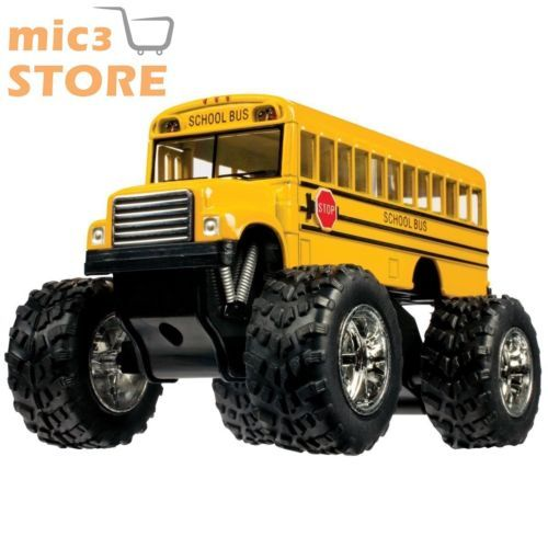 5-034-Monster-Bus-Yellow-School-Truck-Big-Wheels-Car-Kids-Gift-Play-Vehicle-Game