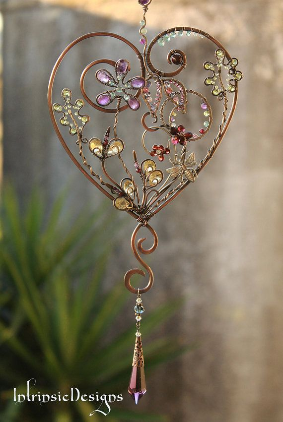 GARDEN HEART ... SUNCATCHER ... loaded with by IntrinsicDesignsArt