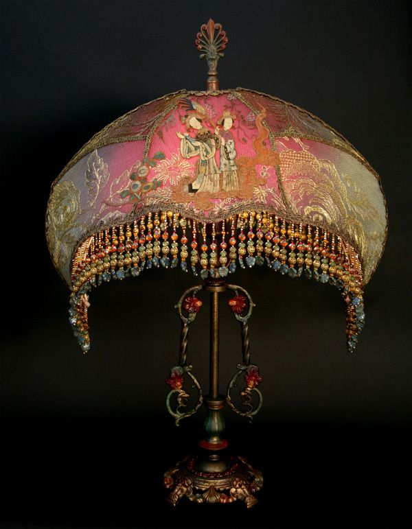 22 Best Beaded Lampshades Images On Pinterest Victorian
