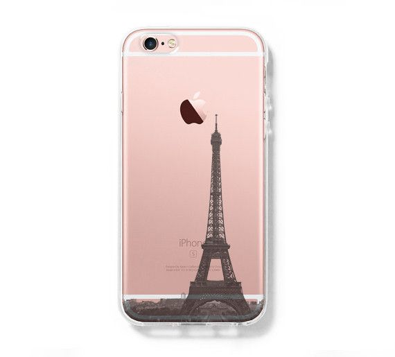 Eiffel Tower Paris France iPhone 6s Clear Case iPhone 6 Cover iPhone 5S 5 5C Hard Transparent Case C021