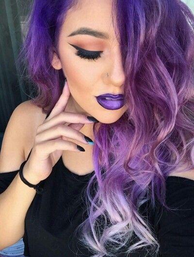 purple hair porn