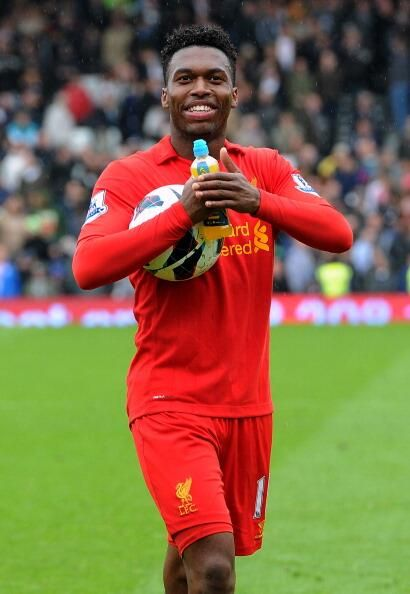 He looks happy with himself and he should be! 3 goals & a Man of the Match performance. #LFC
