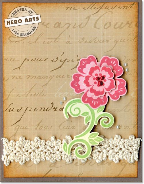 Sizzix Card Making Ideas Part - 30: Hero Arts Cardmaking Idea: Vintage Floral