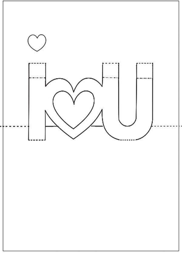 I Love You Pop Up Card Template In 2021 Pop Up Card Templates Diy Pop Up Cards Templates Diy Pop Up Cards