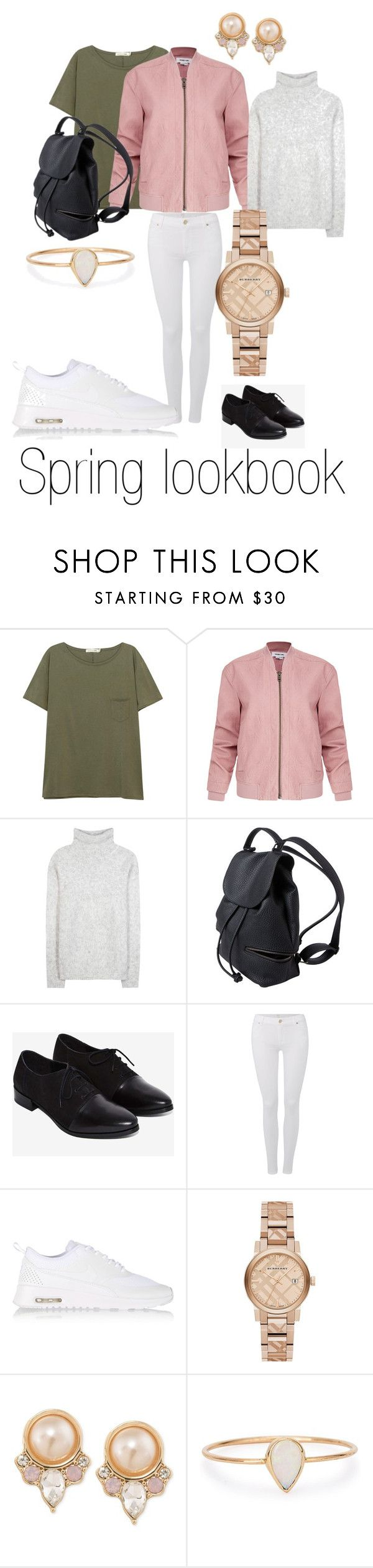 Spring 2016 by meanixee on Polyvore featuring Frame Denim, rag & bone/JEAN, Helmut Lang, 7 For All Mankind, NIKE, Burberry, Catbird and Carolee