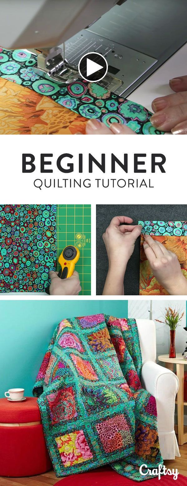 Just getting started with quilting? Get short, simple and easy steps for completing a full quilt in this quick video tutorial for beginners.