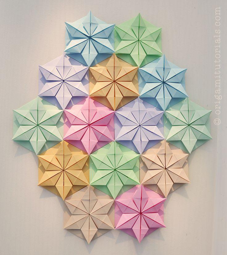 tutorial origami kusudama