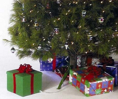 """$24.99-$29.99 Ever-Green Easy Real Christmas Tree Watering System - Gift Box Style - Ever-Green Christmas Tree Watering System Item 100001 """"The Easy Way to Water Your Christmas Tree!"""" It's easy as 1-2-3 Features: Green present with red bow Attach the easy to install self stick clip to the inside of your tree stand Attach the ever-green watering system hose to the clip Fill the """"present"""" with wat ..."""