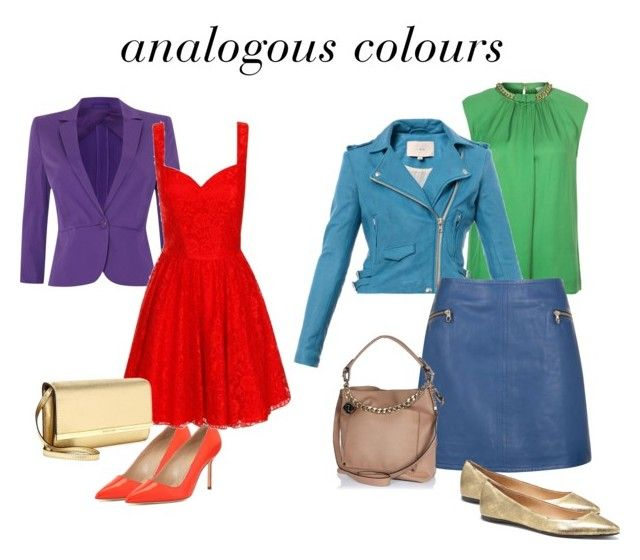 analogous colours by lornamailtd on Polyvore featuring Chi Chi, MICHAEL Michael Kors, IRO, MaxMara, Ted Baker, Manolo Blahnik, Joe's Jeans, Michael Kors and River Island