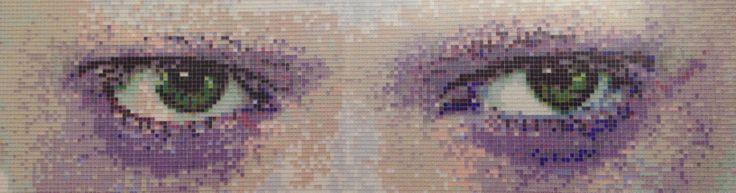 more eyes on you | glas 1x1 | ook eigen foto's & ontwerp | via mozaiek utrecht | boven het aanrecht?
