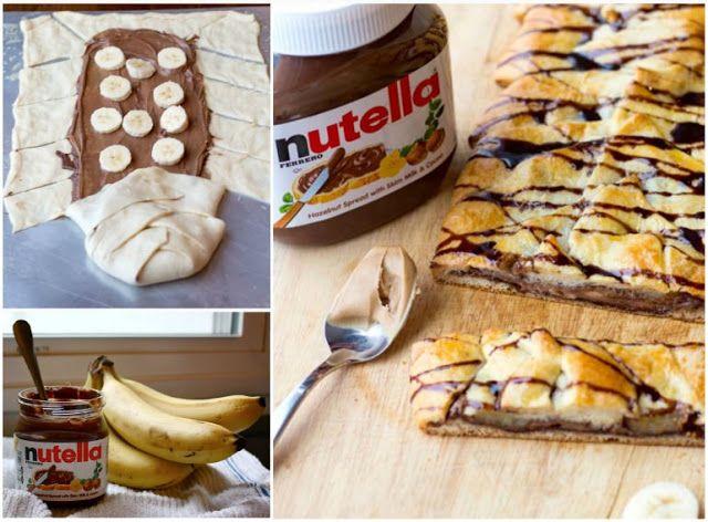 Daddy Cool!: Πανευκολη πιτα με nutella και μπανανες