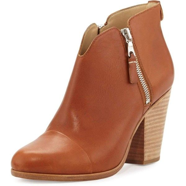 Rag & Bone Margot Side-Zip Ankle Boot ($495) ❤ liked on Polyvore featuring shoes, boots, ankle booties, shoes booties, tan, ankle boots, tan ankle booties, leather ankle boots, leather ankle booties and tan leather booties