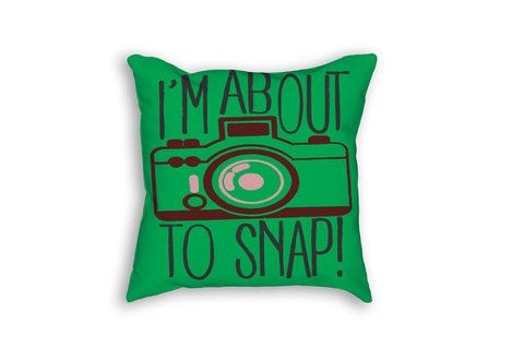 About to Snap - Outdoor Throw Pillow for summer