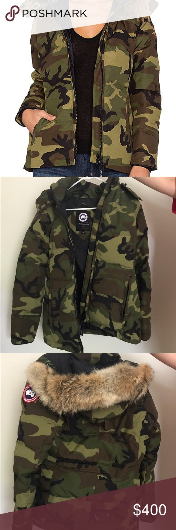 Canada Goose Camo Chelsea parka never worn. a friend of mine was sent an extra jacket in the mail and i am selling it. Perfect condition. Retail price 695.00. Bought from nordstrom.com Canada Goose Jackets & Coats