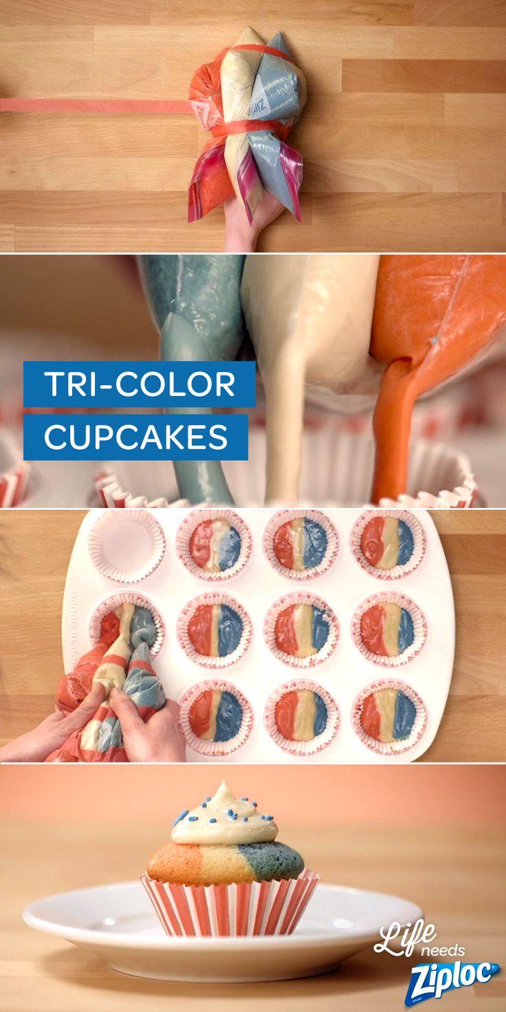 Una idea genial para hacer cakecupcake. Te animas á hacerlo pero con tu bandera de tu país yo los hago de Argentina