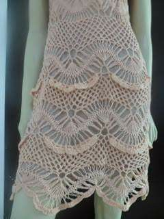 Hairpin lace plus regular crochet - dres- skirt. Mimosa
