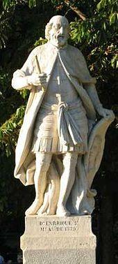 Henri de Trastamare: Pierre le Cruel trouve des alliés chez le Prince Noir qui embauche les Grandes Compagnies qui ravagent le Languedoc. Charles le Mauvais, roi de Navarre, autorise le passage de cette armée. Elle franchit le col de Roncevaux en février 1367. Henri de Trastamare lui barre la route, l'arc long anglais y est décisif: les franco-castillans sont taillés en pièces. Bertrand du Guesclin est fait prisonnier. Henri doit s'enfuir en France et Pierre le Cruel reprend le pouvoir.