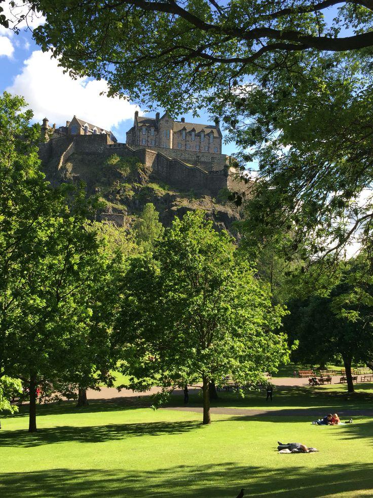 Picnic in thepark. Edinburgh, UK.