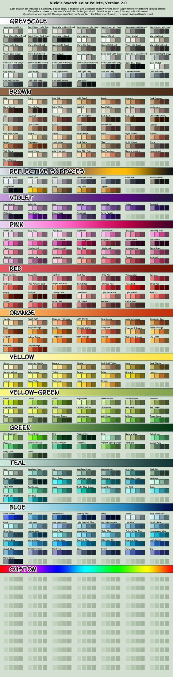 Vibrant Cell-shading Swatch Pallete by NixieSeal.deviantart.com ✤ || CHARACTER DESIGN REFERENCES | キャラクターデザイン | çizgi film • Find more at https://www.facebook.com/CharacterDesignReferences & http://www.pinterest.com/characterdesigh if you're looking for: #color #theory #contrast #animation #how #to #draw #drawing #tutorial #lesson #balance #sketch #colors #anatomy #line #art #comics #tips #cartoon || ✤: