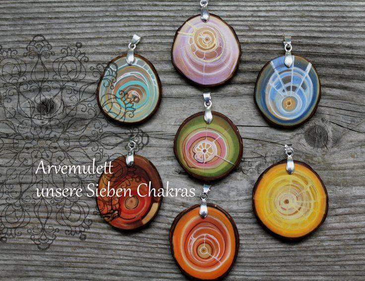 Amulett für unsere Sieben Chakras, jedes ist ein Unikat von Naturlieb auf Etsy