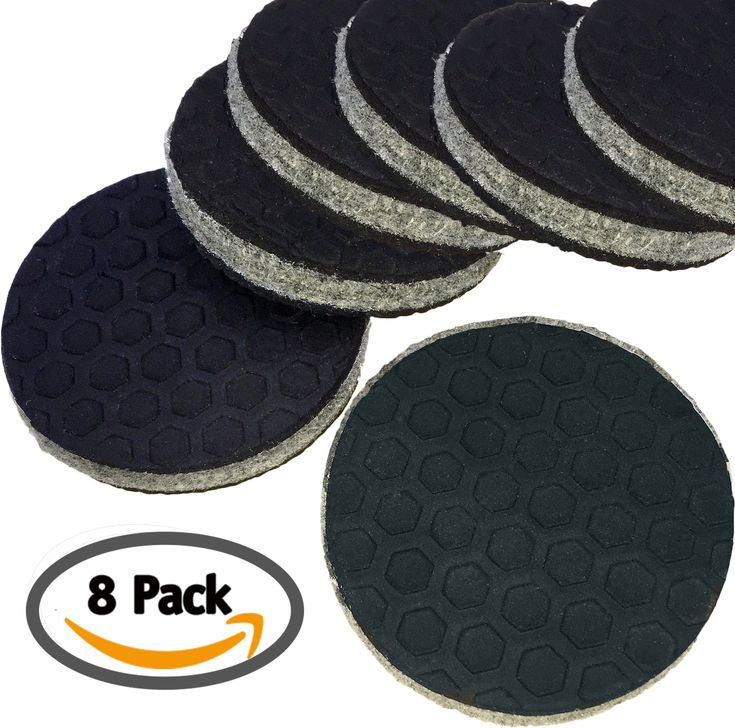 """""""SlipToGrip"""" 8 Pack Furniture Grippers by iPrimio - Furniture Non-Slip Pads 2"""" Round with 3/8"""" Heavy Duty Felt Core. No Adhesive. No Nails. Won't Harm Floors. Patent Pending"""