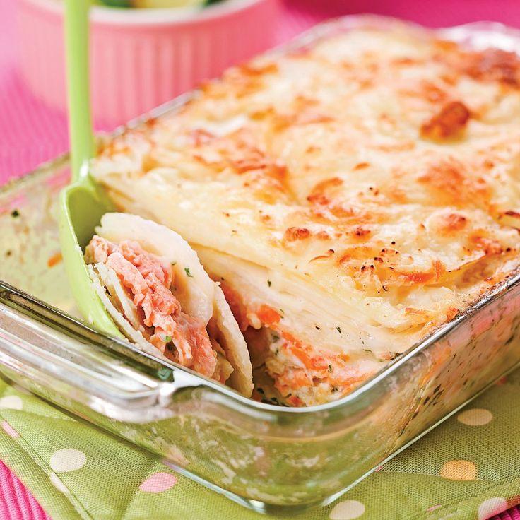 On prend le temps de se régaler avec une recette très facile à faire et délicieuse comme jamais, parfaite pour cette fin de saison : le gratin aux pommes de terre, au saumon et à lacrèmefr...