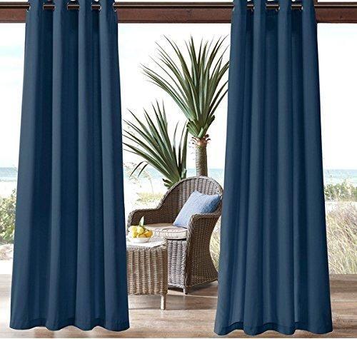95 Inch Navy Color Gazebo Curtain Single Panel Dark Blue