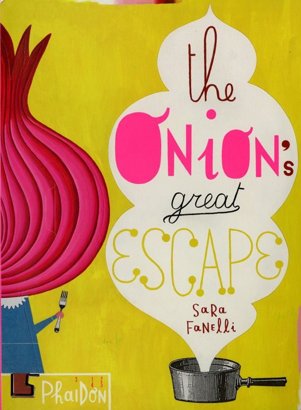 """The illustratorSara Fanellihas a new book that """"will disappear"""" once it is read.The Onion's Great Escape(Phaidon Press) is about a young onion who is trapped in the book. As you make your way through the gloriously drawn and scribbled pages, you tear along the perforations and the onion pops out. By the end, the onion can be freed from bondage (or binding)."""