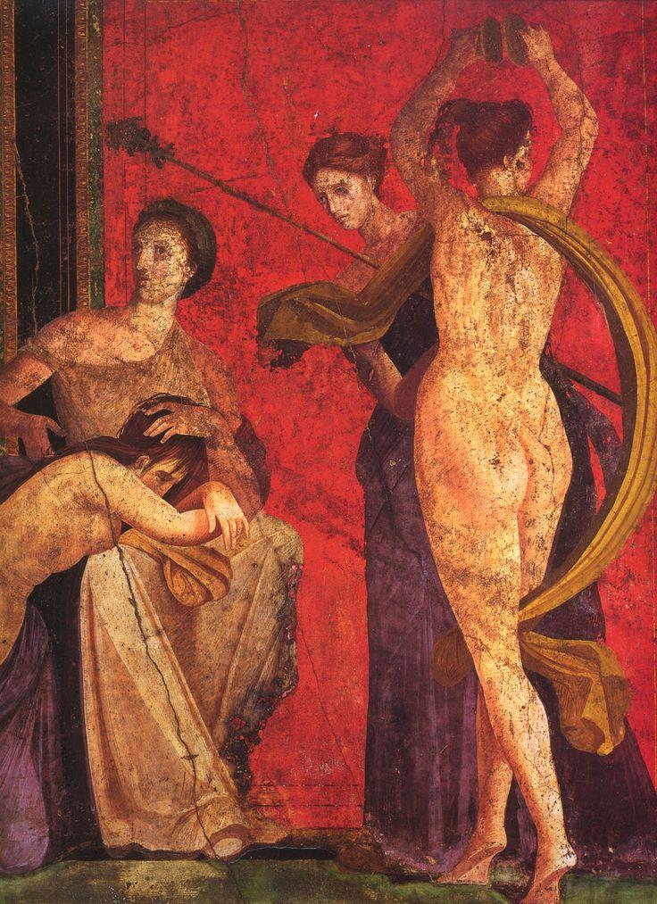 """jeannepompadour: """" Fresco from the Sala di Grande Dipinto, Scenes in the Villa de Misteri in Pompeii """""""