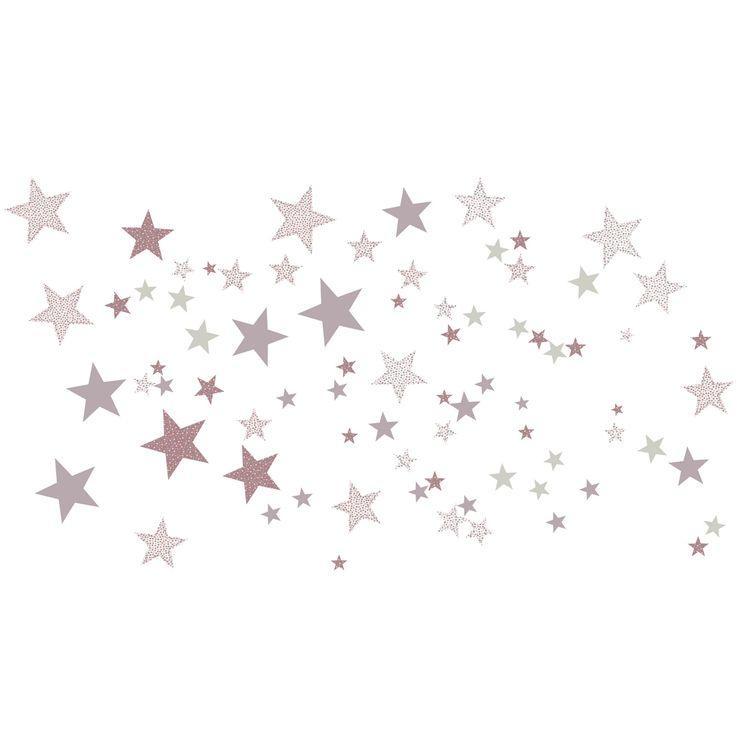 Stickers Etoiles constellation rose : Art for Kids - Stickers coeur / étoiles - Berceau Magique