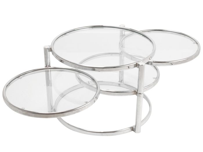 Triple swivel side table