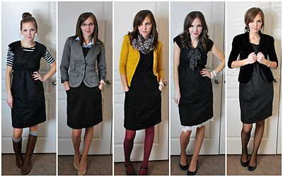 one simple black dress...5 outfits: Merrick Art, Outfit Idea, Dresses Up, Art Piece, Shift Dresses, Styles, Work Outfit, Little Black Dresses, The Dresses