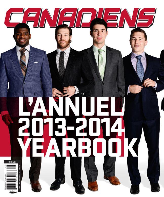 L'annuel 2013-2014 des Canadiens est maintenant disponible en kiosque! Nos joueurs ne sont-ils pas charmants? / The 2013-14 Canadiens Yearbook is out! Don't our boys look handsome? #HabsYearbook