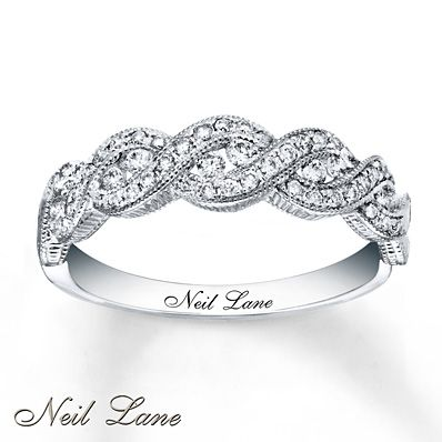 Neil Lane Designs Ring 3/8 ct tw Diamonds 14K White Gold.... I  loooove a right hand diamond ring!