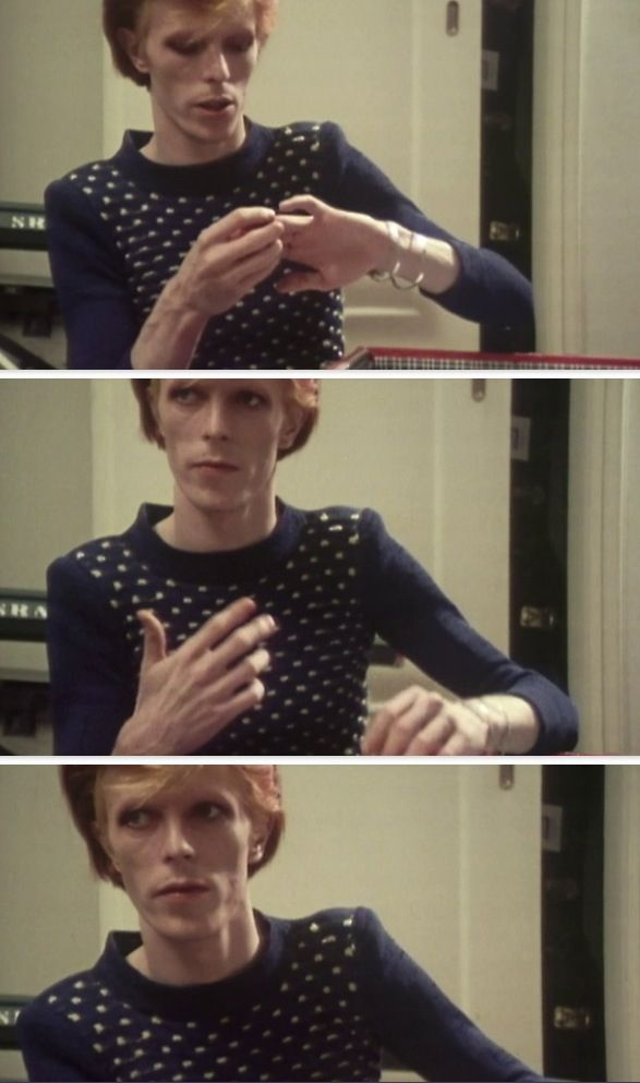 David Bowie  Scenes from the documentary Cracked Actor circa 1974 Produced by Alan Yentob