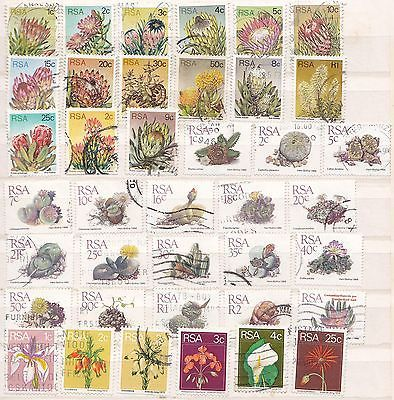 Modern Republic of South Africa, flowers on stamps