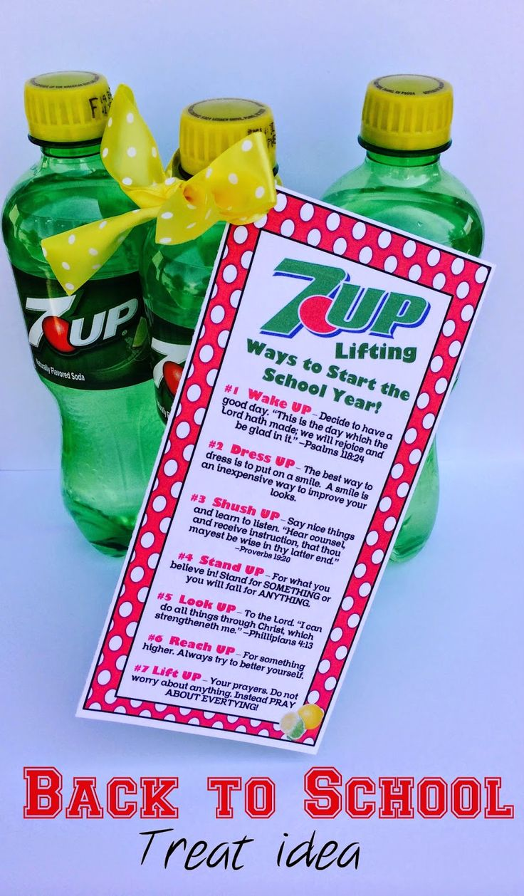 Marci Coombs: 7-UP Back to School Treat.