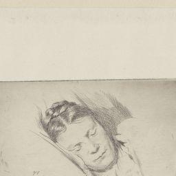 La mère de l'artiste dormiente, de face: [estampe] / Félix Vallotton