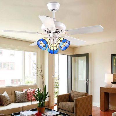 Bohemia Continental Mediterranean Fan Light Fixtures Minimalist Living Room Bedroom Study Ceiling