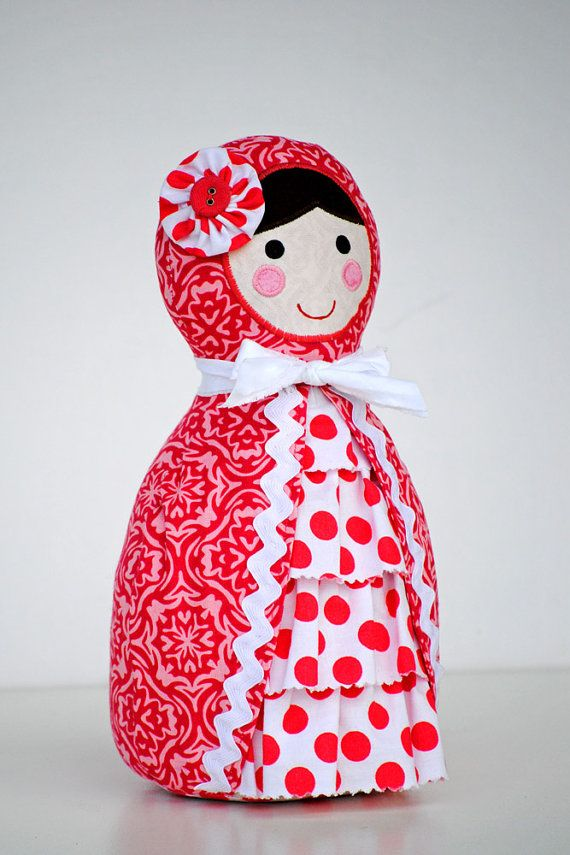 Babushka Doll Pattern. PDF Sewing Pattern. Home Decor, Doorstop, Book Ends, How…