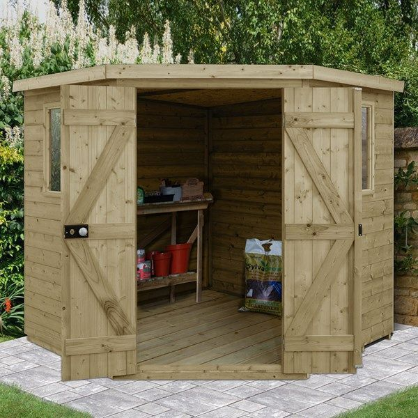 Forest Garden Tongue Groove 77 Eckschuppen Amp Eckschuppen Forest Garden Groove Corner Sheds Building A Shed Shed