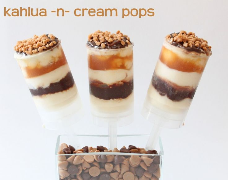 kahlua-n-cream popsDesserts, Kahlua Pop, Recipe, Push Up Pop, Cake Push, Cream Push Up, Cake Pop, Push Pops, Kahlua N Cream Pop