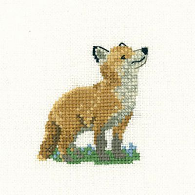 Fox Cub – Little Friends Cross Stitch Kit By Heritage Crafts