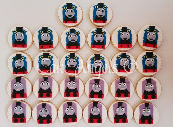 Thomas the Tank Engine and Rosie the Tank Engine Cookies