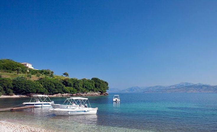 Avlaki beach view of Bella Mare #corfuhotel http://www.belmare.gr/